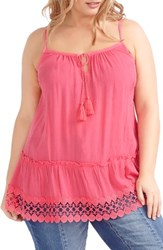 Addition Elle Love And Legend Plus Size Women's Tunic Tank Honey Pink