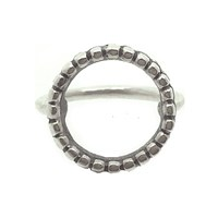 Peculiar Vintage Jewellery Pallenberg Large Silver Halo Ring