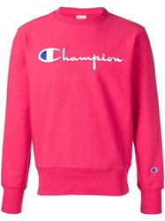 Champion Logo Embroidered Sweatshirt Pink