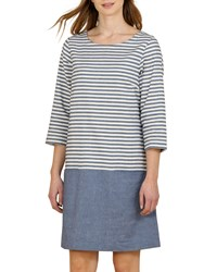 Seasalt Hendra Vean Stripe Dress Gwenn Squid Ink