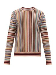 Paul Smith Signature Stripe Jacquard Wool Sweater Multi