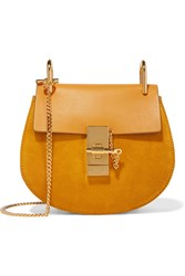 Chloe Drew Mini Leather And Suede Shoulder Bag
