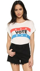 Wildfox Couture Vote Tee Vintage Lace
