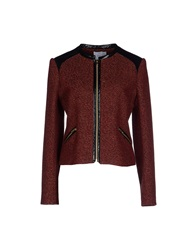 Axara Paris Jackets Brick Red