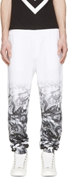 Marcelo Burlon Black And White Ombr Snake Lounge Pants