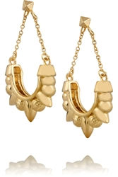Pamela Love Tribal Spike Gold Plated Earrings