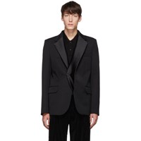 Y Project Black Double Lapel Tuxedo Blazer