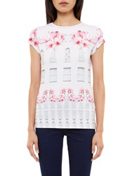 Ted Baker Jessah Window Box Fitted T Shirt Baby Pink