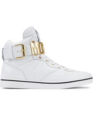 Moschino Logo Chain High Top Sneakers