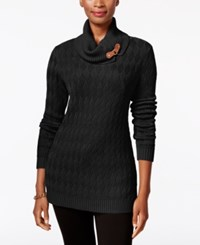 Charter Club Turtleneck Sweater Only At Macy's Deep Black