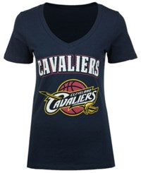 5Th And Ocean Women's Cleveland Cavaliers Mesh Logo T Shirt Navy