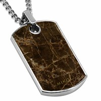 Mikol Real Marble Dog Tag Collectionemperador
