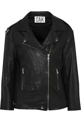 Oak Slouch Rider Perforated Leather Biker Jacket