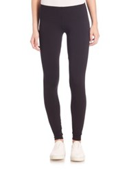 Splendid Stretch Cotton And Modal Leggings Black