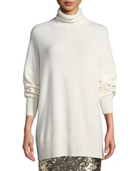 Lafayette 148 New York Relaxed Cashmere Turtleneck Pullover Sweater Cloud
