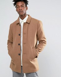 Selected Homme Textured Wool Trench Beige