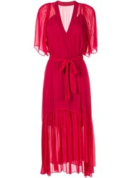 Ginger And Smart Activist Wrap Dress Red