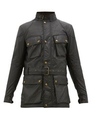 Belstaff Trialmaster Belted Waxed Cotton Jacket Black
