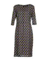 Laura Urbinati Dresses Knee Length Dresses Women Dark Blue