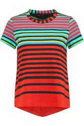 Marc By Marc Jacobs Paradise Striped Pima Cotton Jersey Top Black