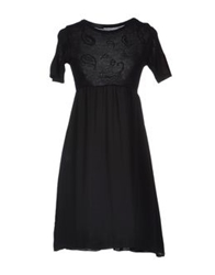 Andrea Morando Knee Length Dresses Black