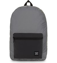Herschel Day Night Packable Daypack Reflective Backpack Silver Black Reflect