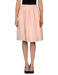 Dandg D And G Knee Length Skirts Pink