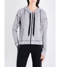 The Kooples Contrast Stitching Jersey Hoody Gry23