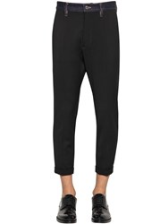 Dsquared Hockney Wool Blend Cady Pants Black