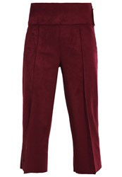 Bik Bok Elsa Ekman Bianca Trousers Burgundy Dark Red