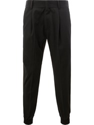 Juun.J Elasticated Cuffs Trousers Black