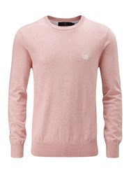 Henri Lloyd Men's Moray Regular Crew Neck Knit Jumper Pink Marl