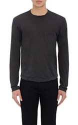 James Perse Men's Jersey Long Sleeve T Shirt Dark Grey