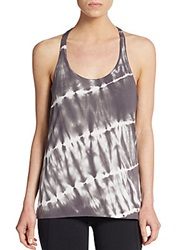 Balance Collection Tie Dye Twisted Racerback Tank Grey