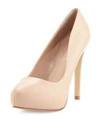 Charles David Frankie Leather Platform Pump Nude