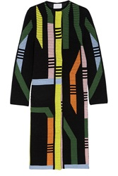 Peter Pilotto Track Ribbed Stretch Wool Blend Coat