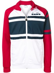 Diadora Colour Block Jacket Red