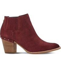 Steve Madden Tinker Suede Ankle Boots Burgundy Suede