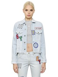 Steve J And Yoni P Patches Cotton Denim Jacket