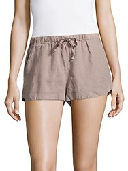 Young Fabulous And Broke Rocco Linen Shorts Taupe