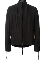 Cedric Jacquemyn Short Zipper Back Jacket Black