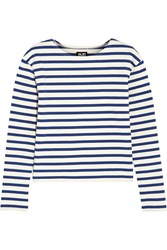 Nlst Breton Striped Cotton Top Blue