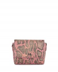 Halston Snake Print Leather Wallet Clutch Bag Fuchsia Multi