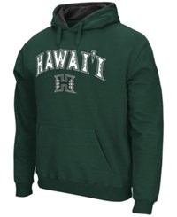 Colosseum Men's Hawaii Warriors Arch Logo Hoodie Green