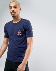 Love Moschino Embroidered Pocket T Shirt Navy