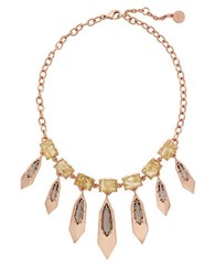 Vince Camuto Crystal Charm Necklace Rose Gold