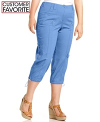 Style And Co. Plus Size Cargo Capri Pants Vineyard Coast