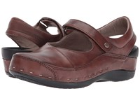 Wolky Strap Cloggy Cognac Clog Shoes Tan