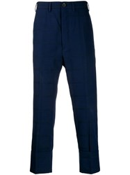 Vivienne Westwood Grid Pattern Trousers Blue