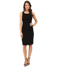 Norma Kamali Sleeveless Shirred Waist Dress Black Women's Dress